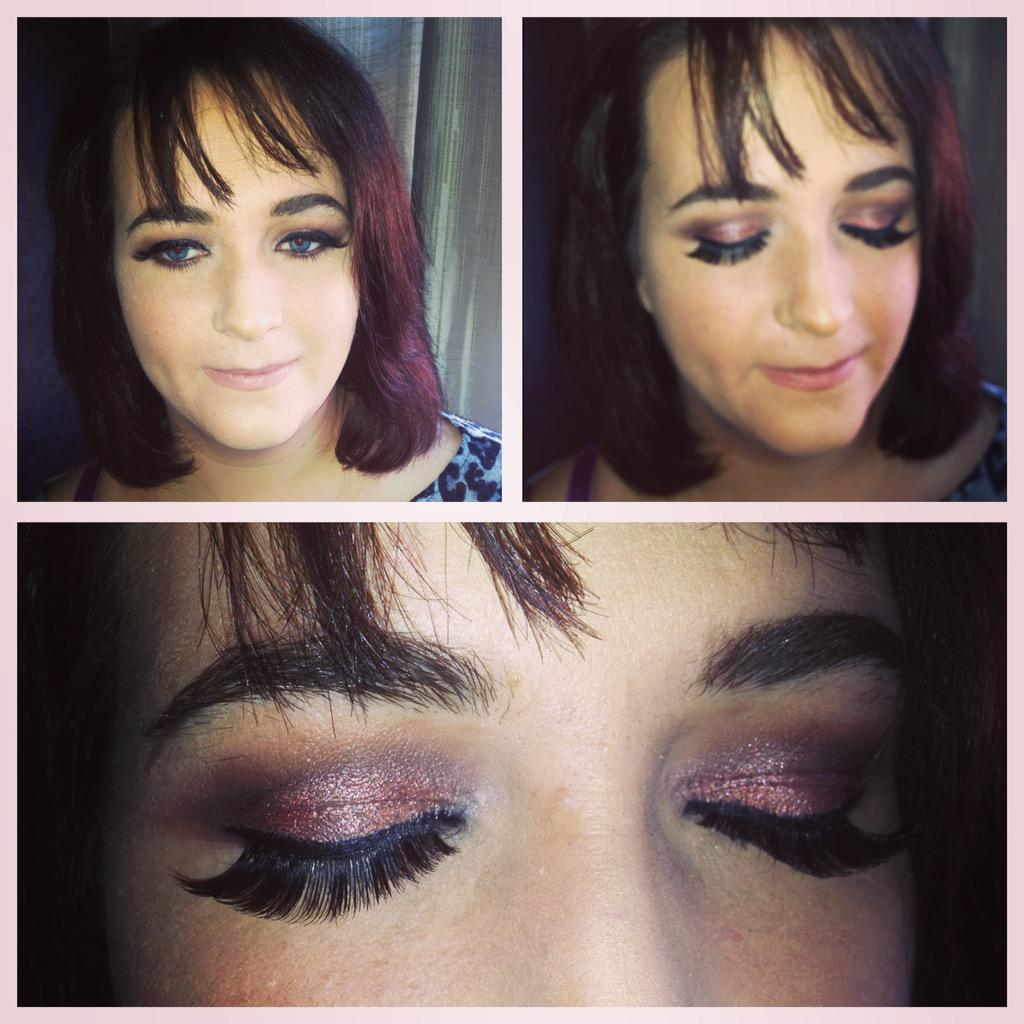 Beautiful natural look smokey eye. Using @motives @MACcosmetics #Stockport #MOTD #Manchester #cheshire #lotd #party http://t.co/1ONQuwoVLx