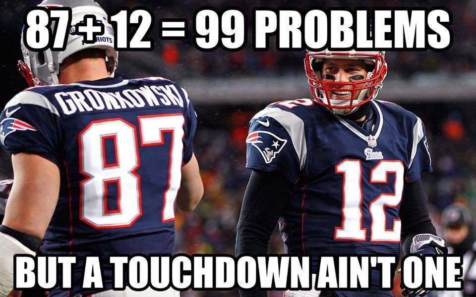 Brady to Gronk Again! #Patriots http://t.co/5XSvxDOhBg
