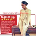 RT @KollywudCinema: @taapsee is a Golden Girl - DC