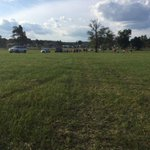 Crowds slowly coming into #TwinCreeksFarm for @LukeBryanOnlines #FarmTour in #McCalla http://t.co/BFfoaWilT4