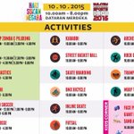 there is a new activity added on the list; muay thai! for those who wants to try all of these activities! #MISE2015 http://t.co/8ZOBk5hQYV