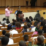 Reps from the Mississippi Symphony Orchestra perform for Brinkley U. 6th graders! @DrCedrickGray @ChineloEvans http://t.co/fo3B9coDve