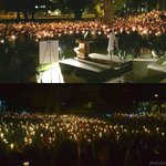 A sea of candles tonight as the Flagstaff community comes together. Bottom pic: Meghan Berrelez. #NAUstrong #abc15 http://t.co/bDITjIIuh8