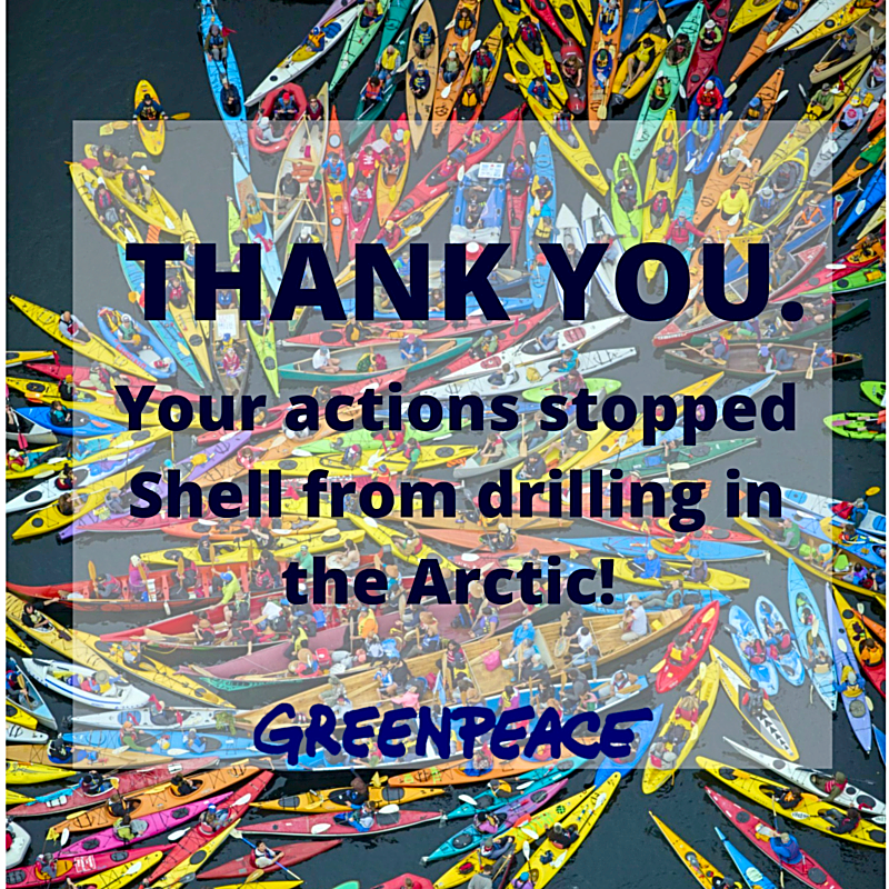 RT @greenpeaceusa: We made history. RT if you signed on to demand Shell pull out of the Arctic. We can't thank you enough. http://t.co/Ng5d…