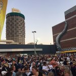 The car park at Cowboys Leagues Club @7NewsQueensland #NRLBroncosCowboys http://t.co/VjYxOLuga4