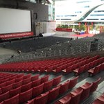Baahubali will be screened three times and this is the 5000 capacity outdoor auditorium that will play it on 7th.. http://t.co/SvZhRLjdT6