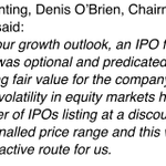 Digicel statement on postponing IPO. In fairness, number of recent US floats trading under IPO prices. http://t.co/5ZNuNeYbNR