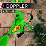 Severe Thunderstorm Warning [HAIL: half dollar-size, GUST: 60 mph] for Lincoln County until 8:00 PM. @KOB4 #nmwx http://t.co/3kRjsabGY8