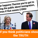 Theresa Mays been caught out - lying in a speech to stoke the fire over immigration. http://t.co/Vw1YwyUrUk http://t.co/UOM85u691N
