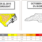 North Carolina went from 84% #drought to 0% drought in just 2 week. #ncwx http://t.co/VB5F1lVkAv