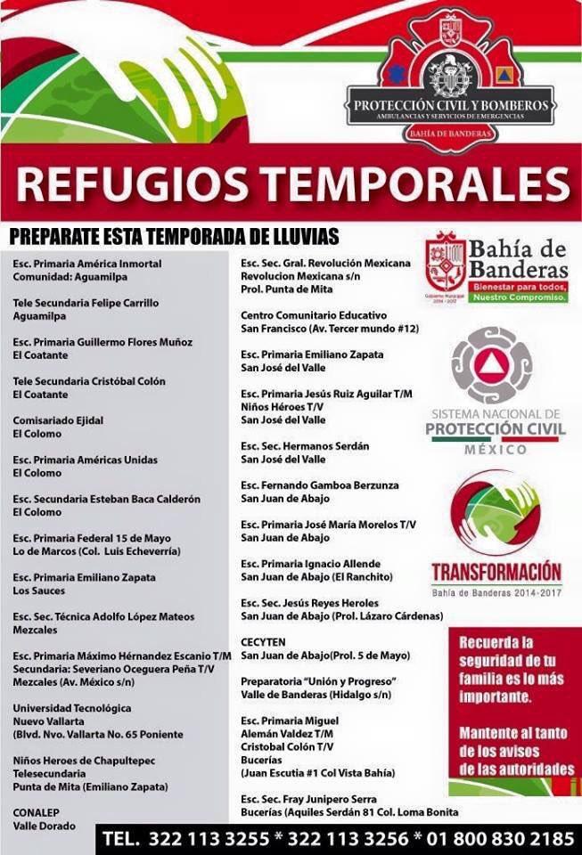 #refugiostemporales en Bahía de Banderas, Nayarit @HechosAM #Patricia https://t.co/tn8TbnCLgc