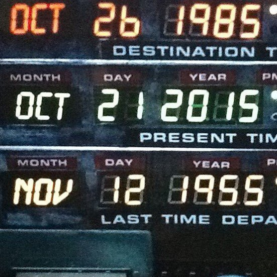 We're officially in the Future! #backtothefuture https://t.co/B8wv6PyX6L https://t.co/n2FI7CP0T7