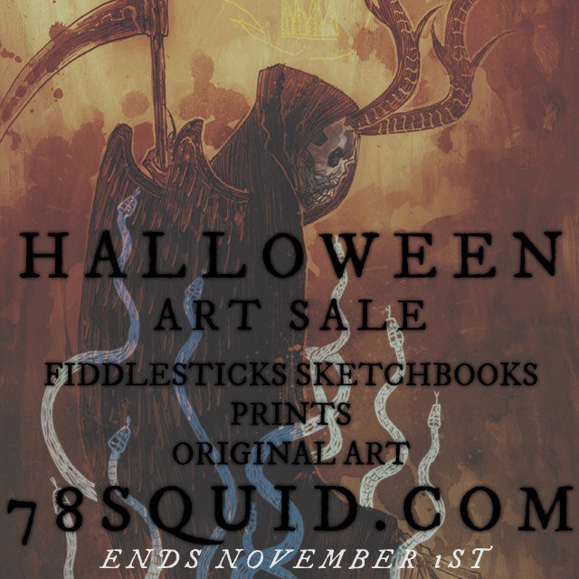 Yep it's my Halloween sale over at https://t.co/G1pCcYvBsh & the release of FIDDLESTICKS the sketchbook! Until Nov1. https://t.co/SMjkVMFAo0