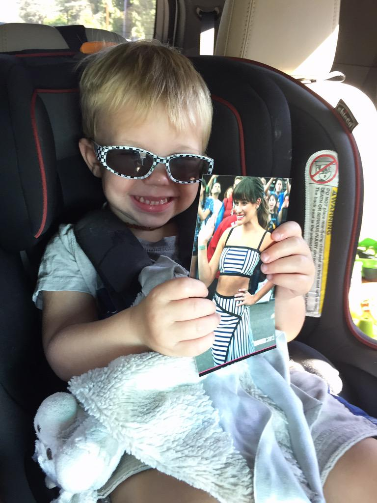 Max isliterally obsessed with you @msleamichele! Perma-smile when he sees your photo