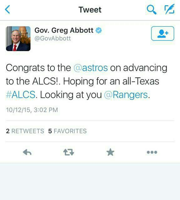 Hey @GovAbbott can you go ahead and congratulate Bama on their big win over A&M this Saturday? http://t.co/crsKjQEMsn