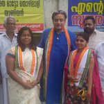 With Thiruvananthapuram Corporation Councillor candidates Swati Srivalsam &Steffi George (at 21, youngest candidate) http://t.co/Uu6UTYRC0Y
