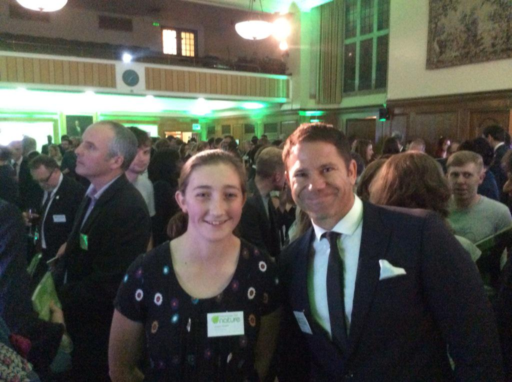 @SteveBackshall and @josiethebirder after their bravura performances at #responsefornature http://t.co/aW6HDbDIw1