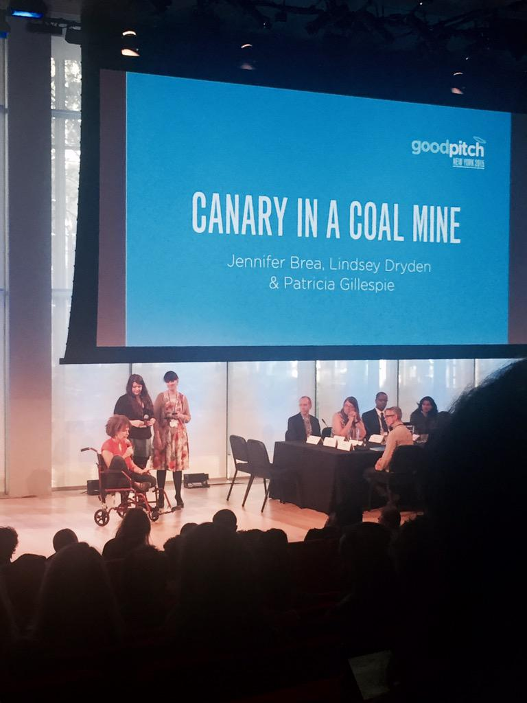 """Exiled from medicine. """"I can't say I can beat this. That's unknown. But we can fight"""" #canaryinacoalmine #goodpitch https://t.co/BmDikEAIID"""
