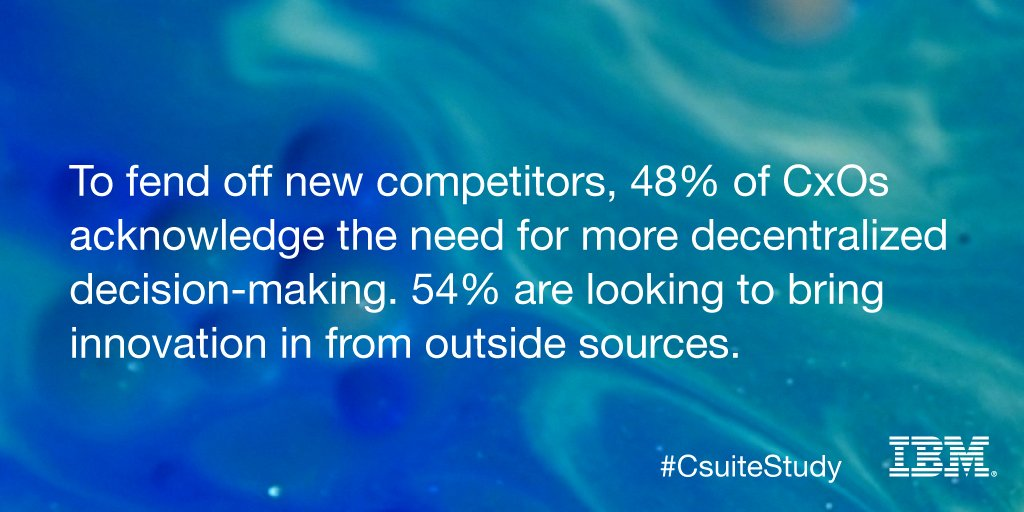 Now, companies must be first, be best, or they'll be nowhere. New #CsuiteStudy: https://t.co/NvrmQsadsf https://t.co/hGTkPK0ssx