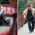 شاب صيني يحمل والدته المريضة والمقعدة في كُلِ مكان يذهب إليه.  اللهم اغفر لأمي وأمهات المسلمين  https://t.co/rG760EMGj1