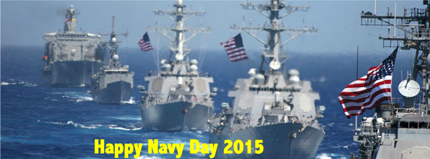 Happy #NavyDay! Today we honor #USNavy Sailors, past & present. Thank you! @USPacificFleet #GoNavy https://t.co/2mlSJpjIWW