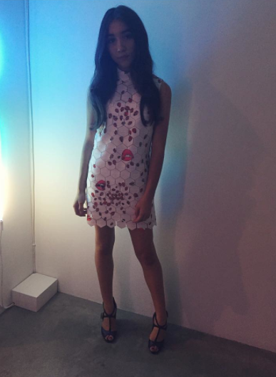 @rowblanchard wears a Resort '16 dress to the @instagram #MyStory Event. Styled by @chrishoran20 https://t.co/UWaK5CEDup