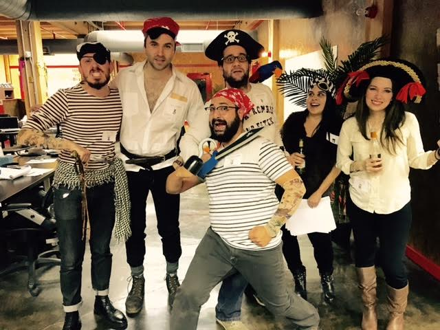 Shiver me timbers! The @SpartzInc pirate crew celebrated #Halloween with our 4th annual murder mystery party! https://t.co/Cgzt9Vk0nQ