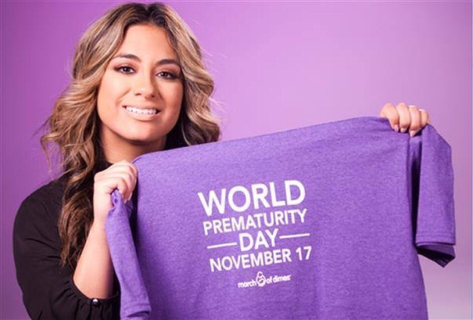 Huge thanks to @AllyBrooke for spreading the word about #WorldPrematurityDay tomorrow! #AllyforMarchofDimes https://t.co/1R4JjXAQQh