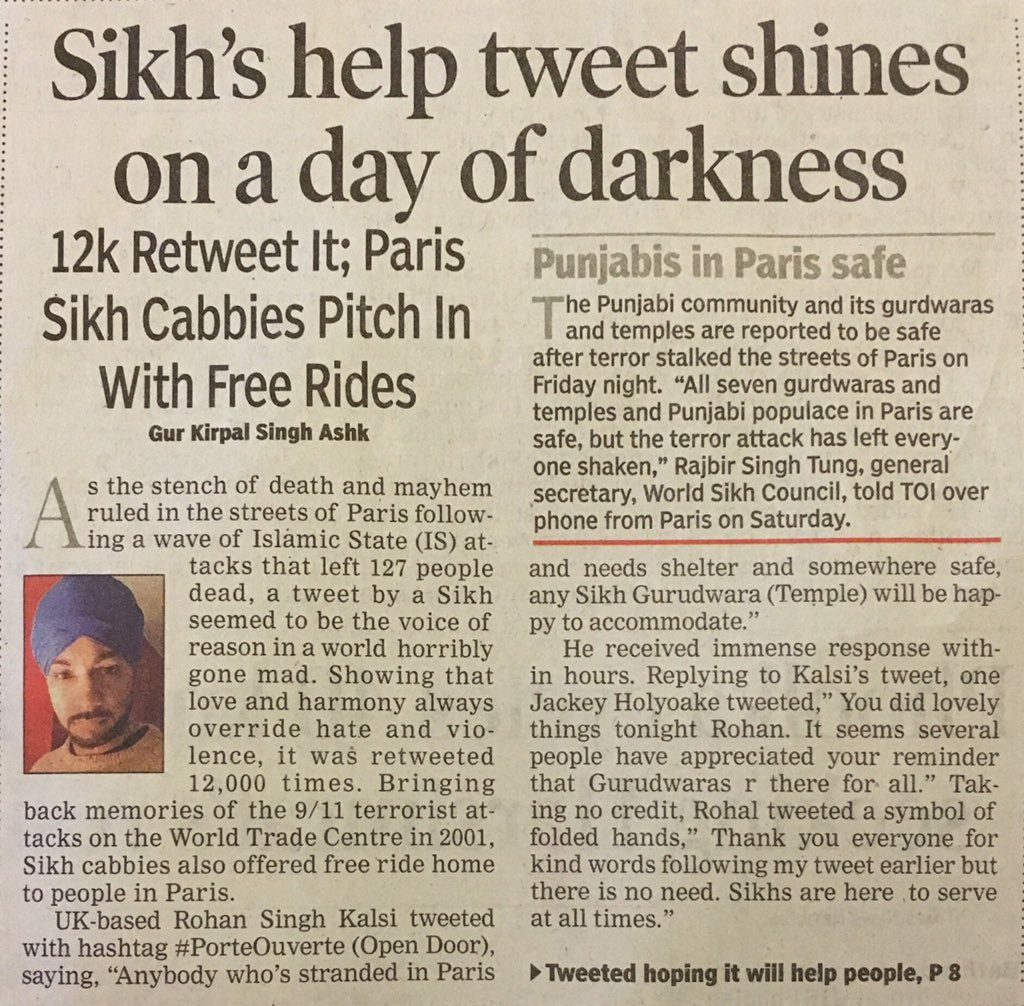 Proud to be a Sikh. Gurdwaras should be open for everyone in need and they were.  https://t.co/V7ofhz8EF5