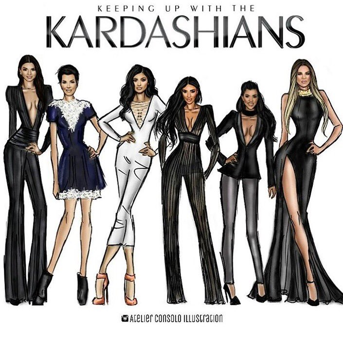 How great is this drawing from @atelierconsoloillustration!!! #KUWTK11 premieres tonight!!! Season 11!!!! https://t.co/8koRo5WNE1