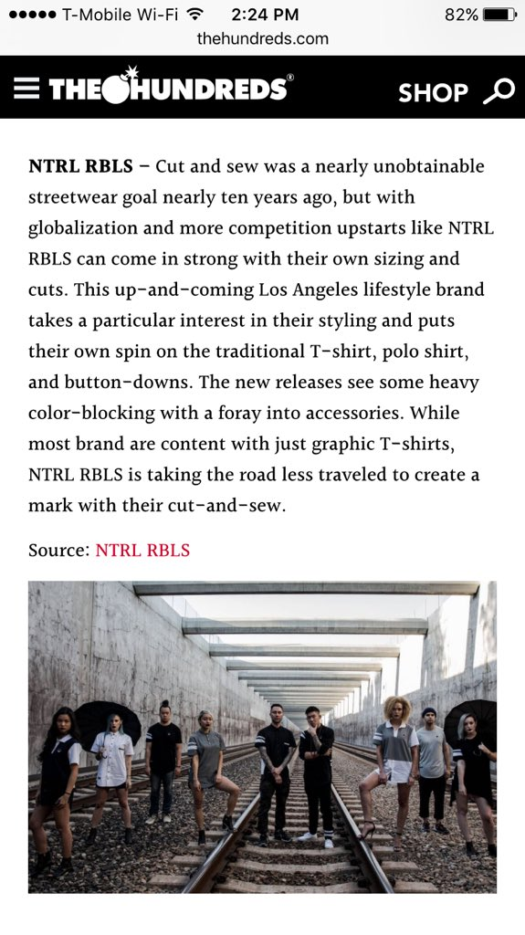S/O to @thehundreds for featuring @ntrlrbls on The Feed