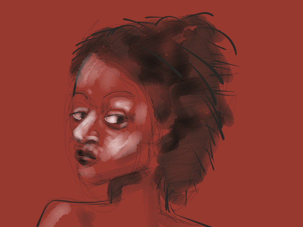 Woman's face, No. 1371 #draw365 #thedailysketch #portraitnovember #madewithpaper https://t.co/1oDnBua7w4