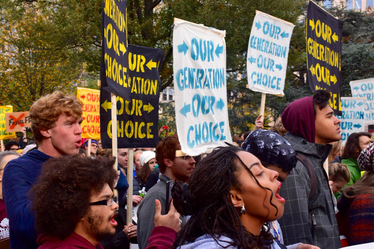 Young people get it: climate, immigration and racial justice are all connected. #OurGenerationOurChoice https://t.co/dnEunCfOXc