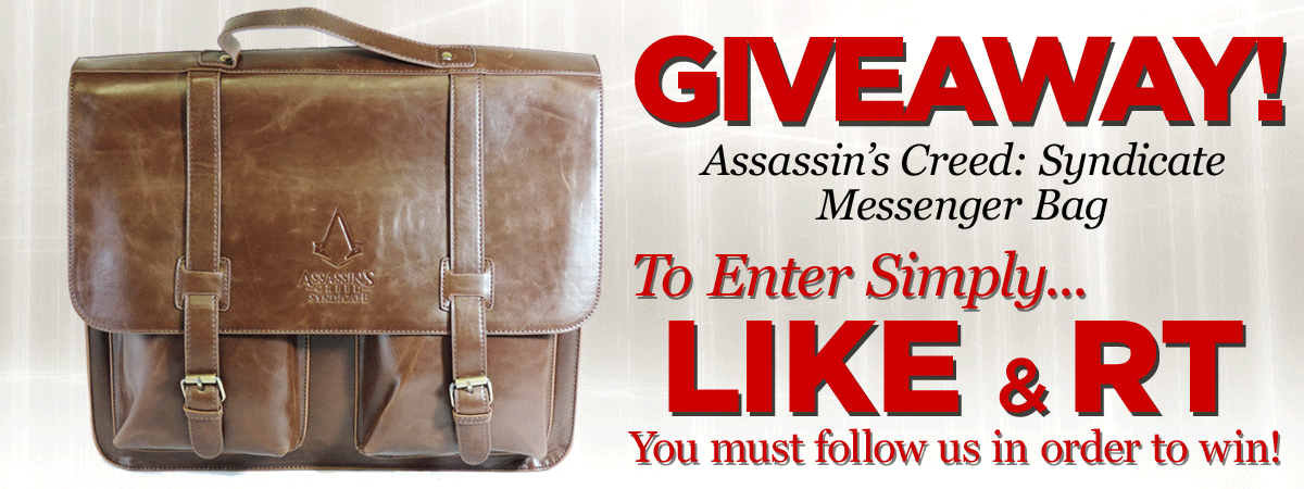 Giveaway time!! WIN 1 of 7 Assassin's Creed: Syndicate bags. Closes 25/11/2015. Good luck!   https://t.co/r18bl6919q https://t.co/B6vkOrwv0E