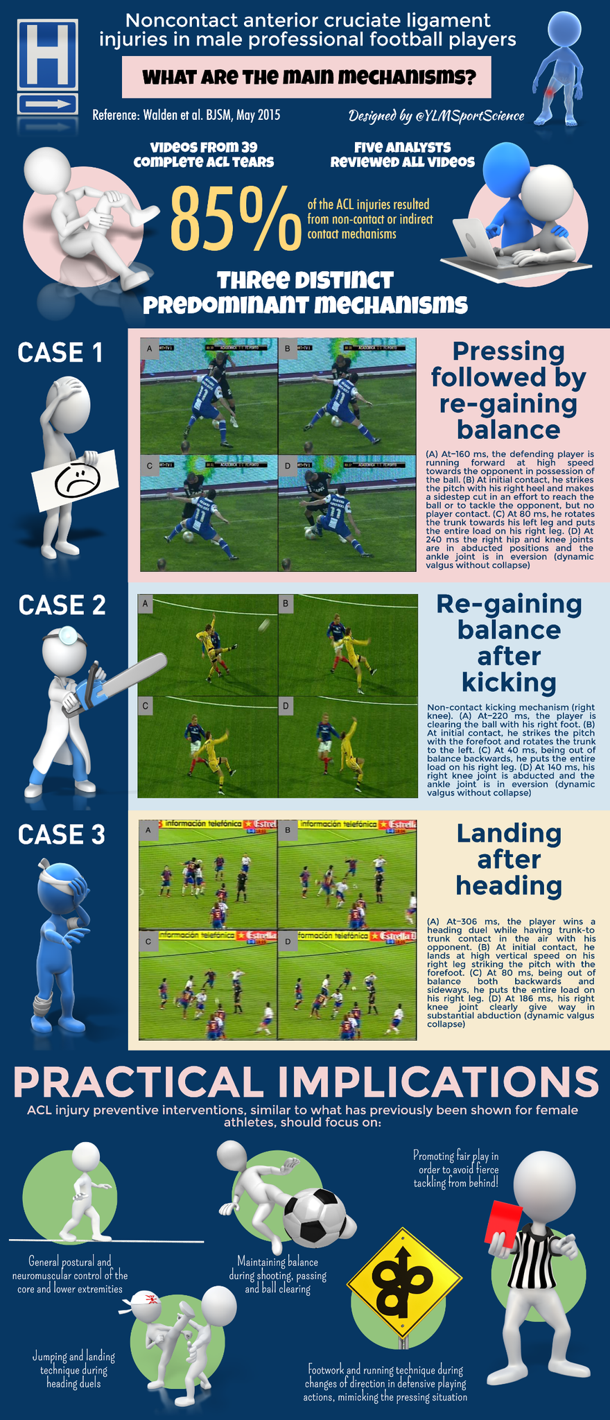 🚨 Main mechanisms for ACL tear in ♂ soccer ⚽️ ▶️ Regaining balance after pressing/kicking ▶️ Landing after heading https://t.co/15MhKBh4L9
