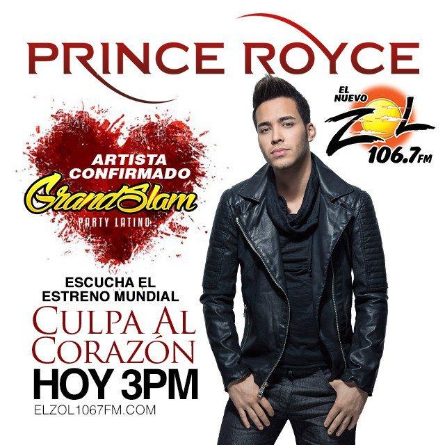 #EstrenoMundial del nuevo sencillo de @princeroyce #CulpaAlCorazon hoy a las 3:00pm a trav… https://t.co/OORUdSQR20 https://t.co/PQN7HpYVNU