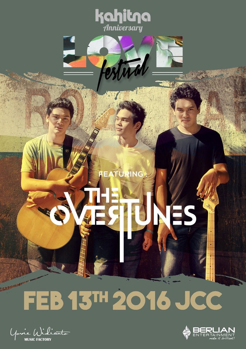 JCC, 13 Feb 2015| Kahitna 30 Years Anniversary Love Festival feat THE OVERTUNES | click : https://t.co/8ib9oeeNP1 https://t.co/sP4FUGvdRw