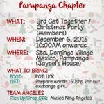 OFC A|M NATION PAMPANGA CHAPTER CHRISTMAS PARTY! SAMA NA! DM @maiden16_pam for more info #ALDUBStaySTRONG https://t.co/70KyhupAtP