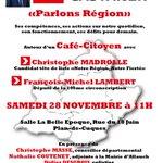 """Café-débat """"Parlons Région"""" aujourdhui à 11h à Plan-de-Cuques avec @cmadrolle @fm_lambert @C_Masse13 #AvecCasta https://t.co/FFJc6uUZ3G"""