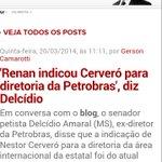 """Renan Calheiros indicou Cerveró para diretoria da Petrobras"", diz Delcídio @MiguelBBargas https://t.co/xYKKxXHan7 https://t.co/TnkKZZEXtL"