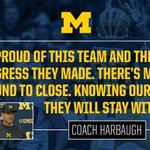"""""""They will stay with it."""" - @CoachJim4UM #GoBlue https://t.co/tPtPl04ckm"""