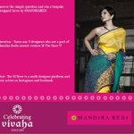 RT @MTheStore: Its your chance win a #MBDesigns saree! Participate- https://t.co/o5iORAslVE #contest #ContestAlert #mandirabedi https://t.c…