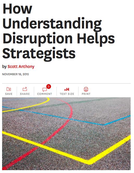 How Understanding Disruption Helps Strategists, my latest @HarvardBiz https://t.co/nJMTv2YtQ8 https://t.co/fzj1btWmXM