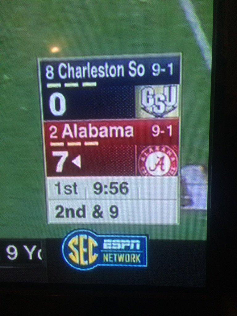 The SEC Network is using I-AA Charleston Southern's I-AA ranking. This is not a joke. https://t.co/BvAN6bpu2E