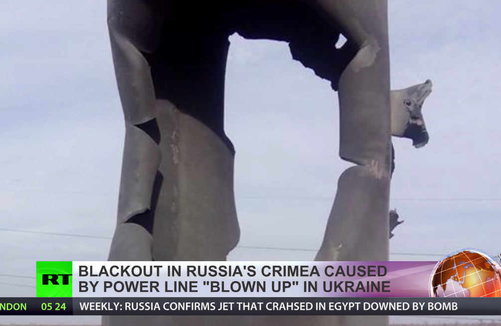 State of emergency in Crimea:Blackout after transmission twrs blown up in Ukraine (VIDEO)