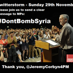 In 3 mins time - at 6pm - Twitterstorm: #DontBombSyria https://t.co/Ga8V4EG7rr