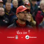 KICK-OFF: Were underway at Anfield between #LFC and @SwansOfficial. Come on you Reds! https://t.co/SXSs83cVXa