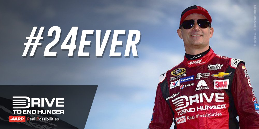 To a true legend and hero, we THANK YOU! RT to wish @JeffGordonWeb luck in his #drivefor5 today! #24Ever https://t.co/RKQYvxUda6
