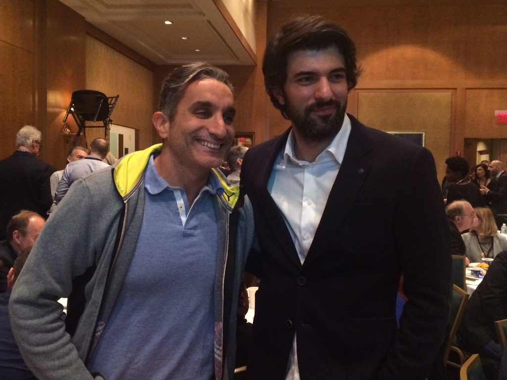 @DrBassemYoussef and Engin Akyurek @Artistanbul1 at the Intl Emmy World TV Festival brunch hosted by @RaiTv https://t.co/ltyIehfbpO