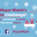 Take on the challenge of avoiding malls on #BlackFriday & shopping local w/@Marty_Walshs #5onMain Challenge! https://t.co/DZ1I3rQkqE